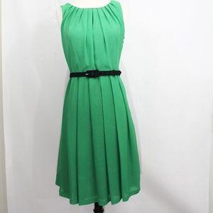 Eva Franco Pleated Dress sz 4 Anthropologie